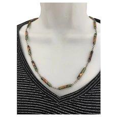 I rage Enamel  Cloisonné  Chinese Oriental Necklace