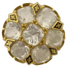 Vintage Victorian  Clear Paste Brooch Pin