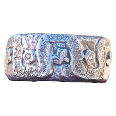Original Fine Silver Forget Me Not Cuff designed by Marcia