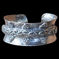 Fine Silver Handmade Vine Bangle