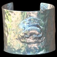 Handmade .999 Fine Silver  Armadillo Cuff Bangle
