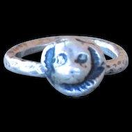 Handmade .999 Fine Silver Dog Ring
