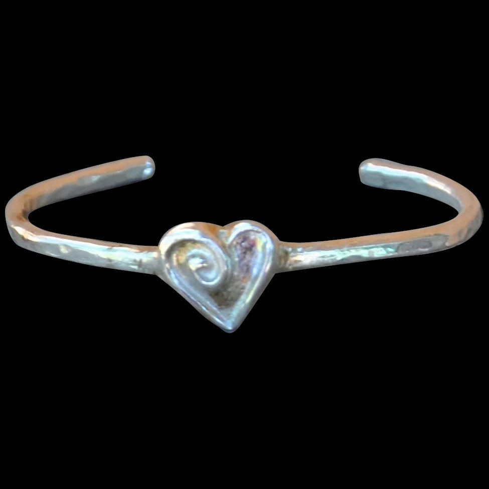 999 fine silver heart bangle b bold jewelry for boomer for Fine silver 999 jewelry