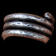 Hammered Fine Silver Wrap Ring