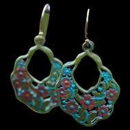 Chimayo Butterfly & Flower Earrings
