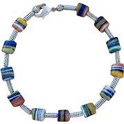 African Glass Bead Choker