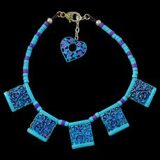 Chimayo Fancy Flower Pendant Necklace