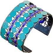 Wide Cuff Contemporary Chimayo Bracelet