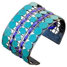 Wide Cuff Contemporary Chimayo Bracelet