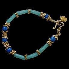 Aventurine & Fossil Bead Bracelet