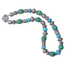 B.Bold Bali Sterling Silver, Amazonite & African Jasper healing Necklace