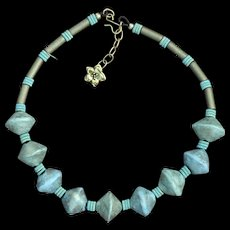 Hand-Crafted Chunky Cool Polymer Bead Necklace