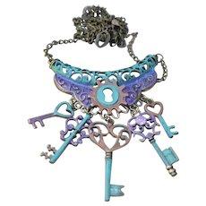 Chimayo Hearts & Keys Charmed Necklace