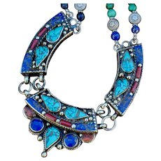 Nepalese Medallions with Lapis & Turquoise