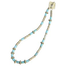 A Lighter Shade of Pale Sleeping Beauty Turquoise Necklace