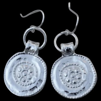 Fine Silver over Copper Coin Earrings