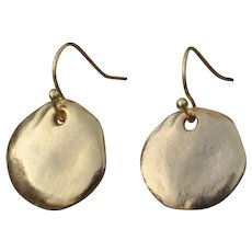 Athena 24K Gold Fired Over Copper Coin Earrings