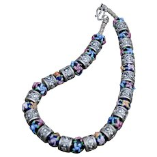 Our Royal Lampwork & Bali Sterling Silver Necklace