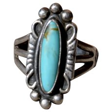 Vintage Bell Trading Post sterling Navajo Turquoise Ring