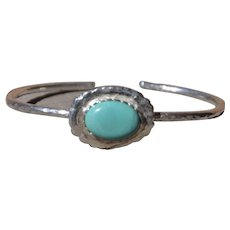 Fine Silver & Hubei Turquoise Bangle