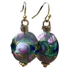 Murano Glass Bead Earrings by B.Bold