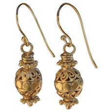 24K Gold Vermeil Bali Earrings