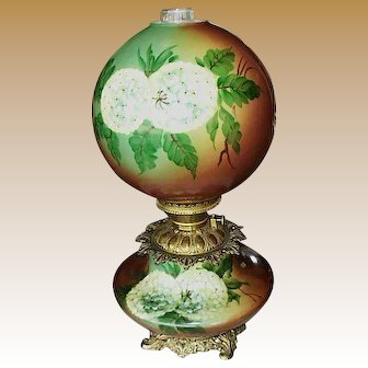Lovely Gone With The Wind Banquet Lamp circa 1890's