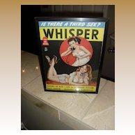 Framed Peter Driben Whisper Pin-up Girl Magazine 40's- 50's era