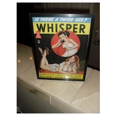 Framed Peter Driben Whisper Pin-up Girl Magazine 40's- 50's era