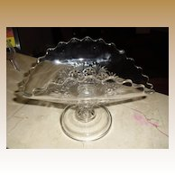 Lovely Early American Pattern Glass Banana Stand