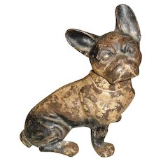 Cast Iron French Bull Dog Doorstop Hubley Design #304