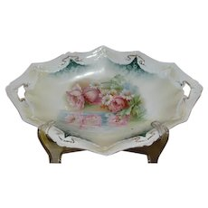 Marked RS Prussia Large Oval Shaped Bowl