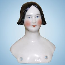 Antique China head with rare hairstyle