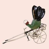 Tiny Antique 2 wheel Carriage