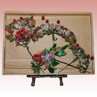 Antique silk flowers