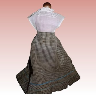Antique skirt with white dickey/blouse