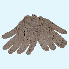 Miniature crocheted gloves
