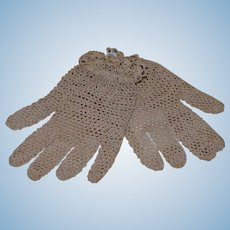 Miniature crocheted gloves