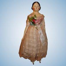 16 inch Papier Mache in original dress