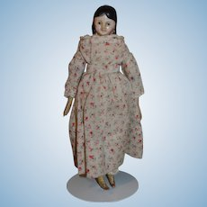 Papier Mache German doll house doll 7 1/4 inches