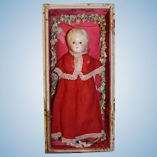Antique German wax over doll all original