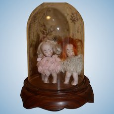 2 Antique German Hertwig dolls 2 1/2 inches
