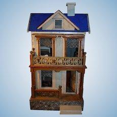Antique Blue roof Gottschalk German doll house