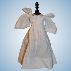 White cotton doll dress for Bebe