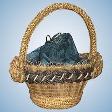 Antique basket candy container