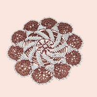 Antique beaded rug for a doll house