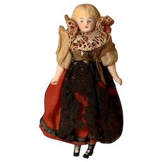 All original Antique German Doll house doll