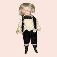 Antique German all bisque little boy 5 inches