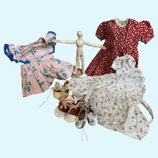 1950's Vintage clothing lot with 3 pair of shoes