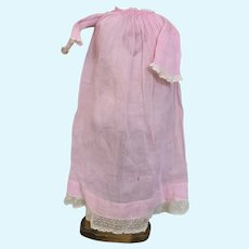 Antique pink Gauze dress for 17 inch china doll